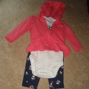 NWOT 6M carters outfit